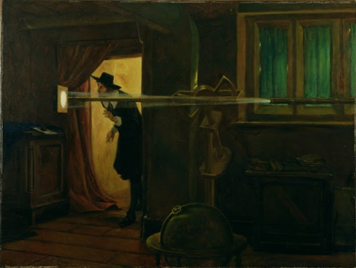 Jeremiah Horrocks' observation of the transit of Venus, as imagined in 1891 by Eyre Crowe