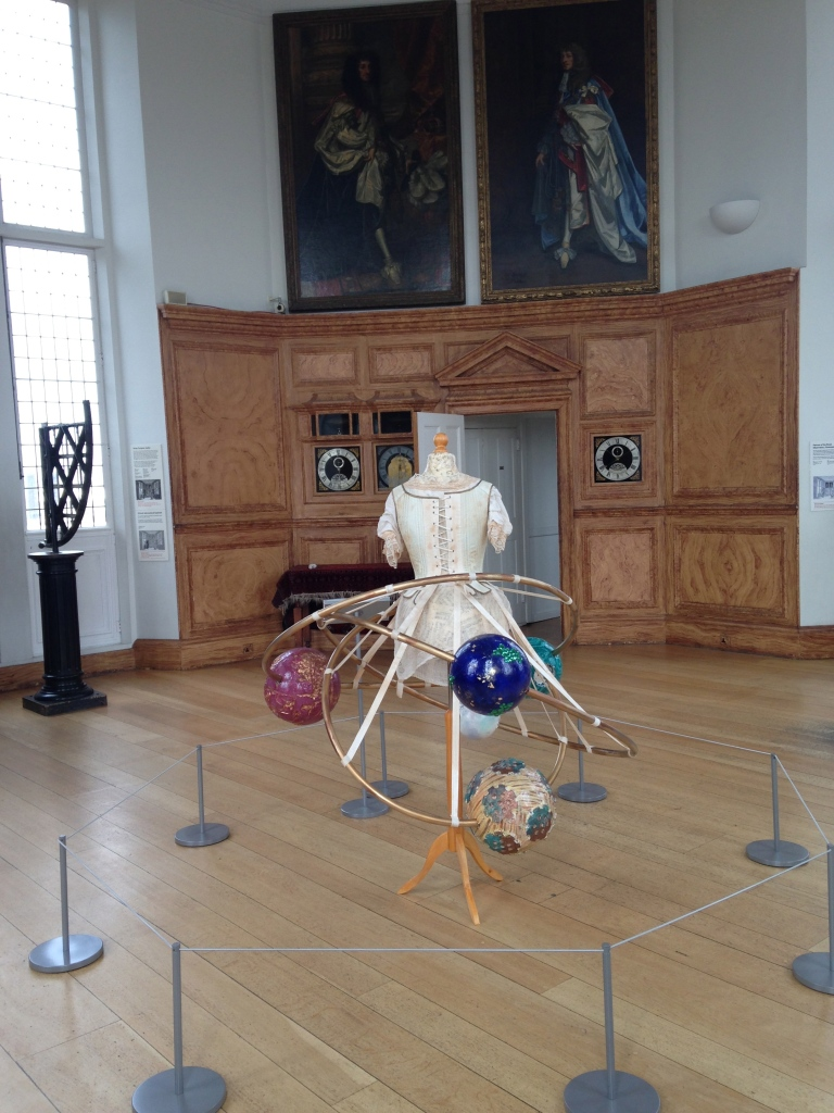 The Octagon Room at the Royal Observatory, Greenwich, with 'Margaret Maskelyne's Orrery Gown' by Jema 'Emilly Ladybird' Hewitt. (Photo: Rebekah Higgitt)